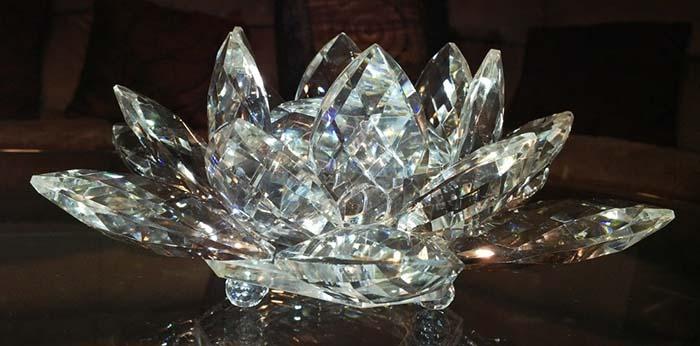 poder de la flor de loto de cristal