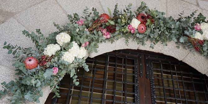 decoracion con claveles